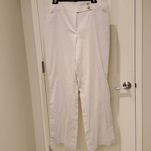 ANN TAYLOR curvy seersucker pants 12
